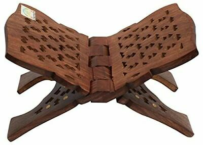 Wooden Handmade Quran Geeta Bible Holder Support Stand Reading Book Holder Displ