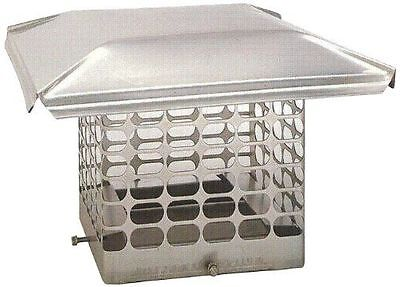 Stainless Steel Single Flue Chimney Cap 9x9