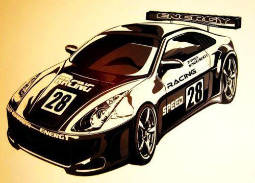 Sports Car Wallpaper For Bedroom: Racing Car Wall Stickers