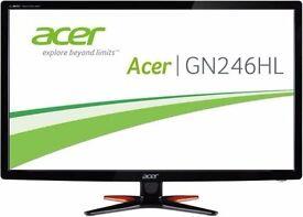"Acer Predator GN246HLBbid 24"" Monitor 144mhz 1ms response"