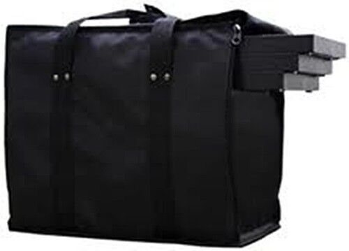 """Premium Jewelry Travel Case With 8 of the 1 1/2"""" Black Trays"""