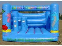 'Sea World' Bouncy Castle. 15 x 15 with 'Biff & Bash'