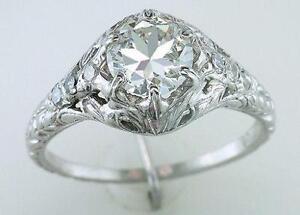 Art Deco Engagement Ring eBay
