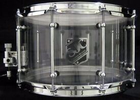 "SJC Custom Snare 14x8, 1/2"" Thick Acrylic, 1 of a Kind"