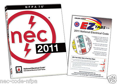 2011 NEC NFPA National Electrical Code and EZ Tabs + Ohms law sticker