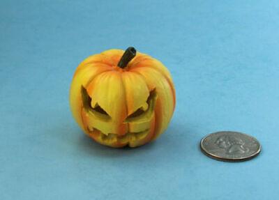 Creepy Dollhouse Miniature Carved Halloween Jackolantern Pumpkin - Carved Halloween Pumpkins