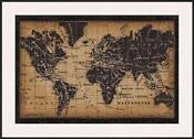 Old World Map Framed