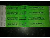4 blackpool illumination switch on tickets friday 2nd sept 2016 the vamps !!!