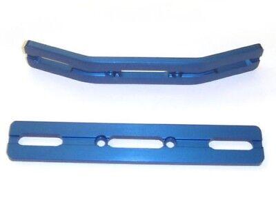 E-Revo Blue Anodized Aluminum Bumper Set w free set of revo dual rate springs