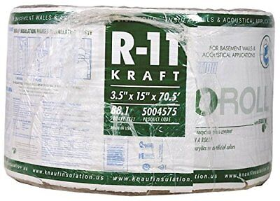 Ecoroll Kr41e Kraft Faced Fiberglass Insulation15x70.5 Ft X3-12 T88.13 Sq-