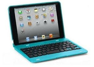 myBitti 7.9inch Bluetooth V3.0 Wireless Keyboard Case Cover with aluminium Base Compatible with iPad mini -blue