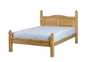 pine double bed with mattress - Pine Bed Frame