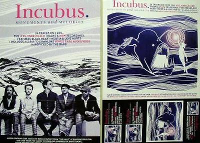 INCUBUS 2009 monuments and melodies 2 sided poster ~NEW old stock MINT cond.~!!