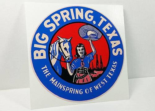 BIG SPRING TEXAS Vintage Style Travel Decal, Vinyl STICKER, Luggage Label