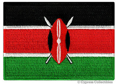 KENYA FLAG embroidered iron-on PATCH AFRICAN COUNTRY EMBLEM AFRICA Kenyan NEW