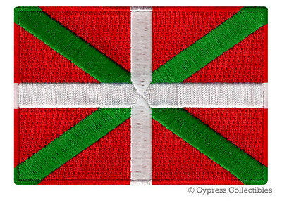 BASQUE IKURRINA FLAG embroidered iron-on PATCH SOUVENIR EMBLEM SPAIN FRANCE new
