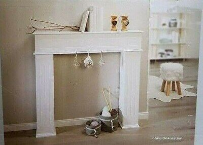 Kaminkonsole Weiß Kaminverkleidung Dekokamin Kaminsims NEU 107x100x18cm Kamin online kaufen