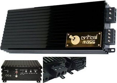 CRITICAL MASS AUDIO ULA2500 V2.0 BEST JL MONO BLOCK BASS AMP AMPLIFIER SPL UL12