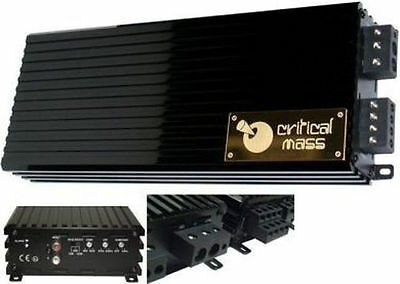 CRITICAL MASS AUDIO ULA2500 V2.0 BEST JL MONO BLOCK BASS AMP AMPLIFIER SPL UL12