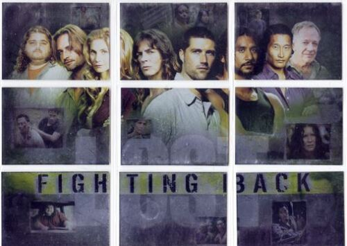 LOST SEASON 3 - FIGHTING BACK - FOIL INSERT CHASE COMPLETE PUZZLE CARD SET OF 9