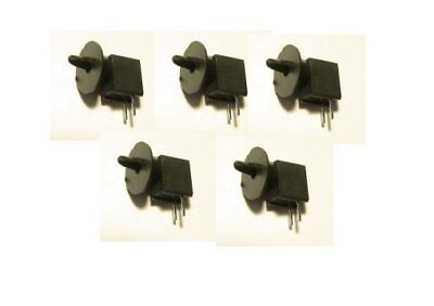 5 SINGLE TARGET HOODED O SCALE DWARF 3MM LED SIGNALS