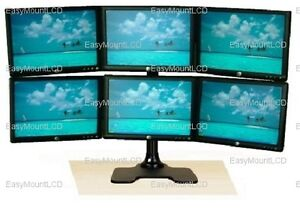 Deluxe-Hex-LCD-Monitor-Stand-Free-Standing-up-to-28