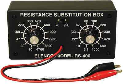 Elenco Rs-400 Resistor Substitution Box-10 Ohm To 1 Meg Ohm Assembled Version