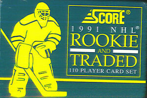 1991-92 SCORE .... ROOKIE & TRADED .... 110 card factory set