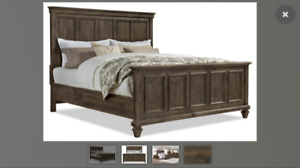 Solid pine king bed