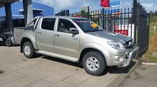 2010 Toyota Hilux KUN26R 09 Upgrade SR5 (4x4) Silver 5 Speed Manual Dual Cab Pick-up Taylors Beach Port Stephens Area Preview