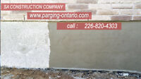 Parging,Concrete work, Brick,Masonry,  waterproofing