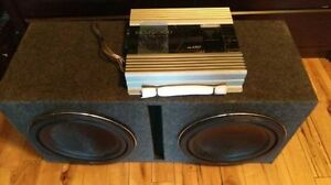 A set of KENWOOD subs and amplifier for sale