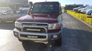 2012 Toyota Landcruiser VDJ76R MY13 GXL Red Manual Wagon Taylors Beach Port Stephens Area Preview