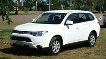 2013 Mitsubishi Outlander ZJ MY13 ES 4WD White 6 Speed Constant Variable Wagon The Narrows Darwin City Preview