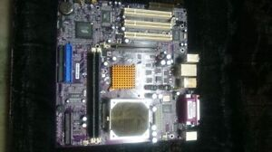 Motherboard. Not sure the brand but has an AMD athlon CPU