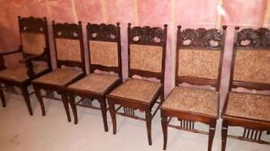 Antique dining chairs set of 6 Cornwall Ontario image 1