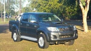 2013 Toyota Hilux KUN26R MY14 SR5 Double Cab White 5 Speed Automatic Utility Winnellie Darwin City Preview
