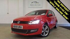 VOLKSWAGEN POLO 1.6 TDI SEL 5dr (red) 2010