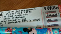 One Direction (Parterre/Floor A6) GREAT SEAT!!