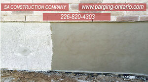 PARGING FOUNDATION-CONCRETE  WORK -WATERPROOFING