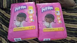 2 sacs pull ups fille 2-3T