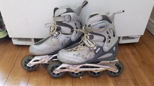 patin à roues allignées gr: 6 rollerblade abec 7