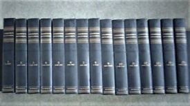FULL SET OF CHAMBERS ENCYCLOPAEDIA, 15 VOLUMES IN GOOD CONDITION, VINTAGE 1959