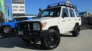 2012 Toyota Landcruiser VDJ76R MY10 Workmate White 5 Speed Manual Wagon Dandenong Greater Dandenong Preview