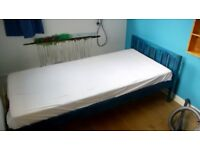 Single bed - stained blue pine