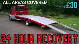 24/7 CAR BIKE BREAKDOWN RECOVERY TRANSPORT TOW TRUCK SERVICES ACCIDENT JUMP STARTS FLAT TYRE A40 M40