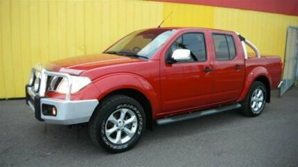 2010 Nissan Navara D40 ST-X (4x4) Flame Red 5 Speed Automatic Dual Cab Pick-up Moorabbin Kingston Area Preview