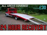 24 HOUR CAR BIKE BREAKDOWN RECOVERY TRANSPORTATION TOW SERVICE A1 M1 A3 M3 A404