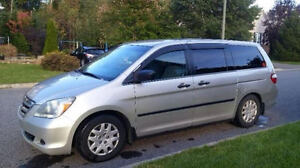 2007 Honda Odyssey, antirouille, 8 roues, hitch