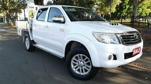 2011 Toyota Hilux KUN26R MY12 SR5 (4x4) White 4 Speed Automatic Dual Cab Pick-up Canada Bay Canada Bay Area Preview